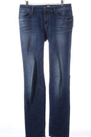 Boss Orange Straight Leg Jeans dark blue casual look