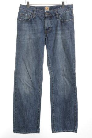 Boss Orange Straight-Leg Jeans weiß-stahlblau Casual-Look