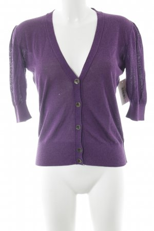 Boss Orange Strick Cardigan braunviolett Casual-Look