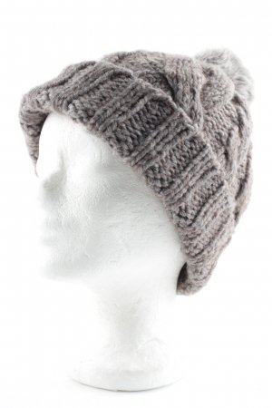 Boss Orange Knitted Hat grey brown-white casual look