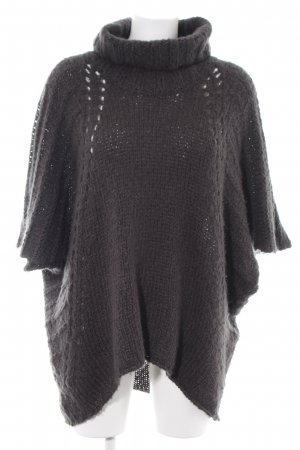 Boss Orange Knitted Poncho black-light grey casual look