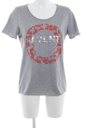 Boss Orange T-Shirt abstrakter Druck Casual-Look