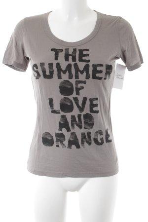 Boss Orange T-Shirt camel-schwarz Schriftzug gedruckt Casual-Look