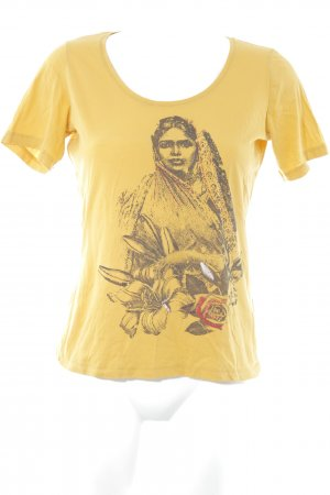 Boss Orange T-Shirt goldorange-schwarz Motivdruck Casual-Look