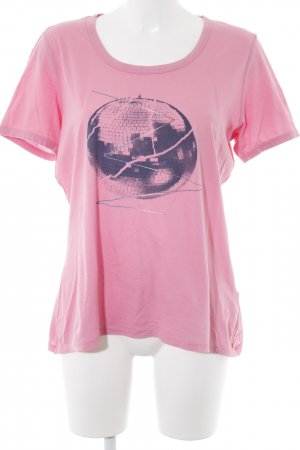 Boss Orange T-Shirt pink Motivdruck Casual-Look