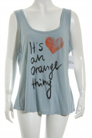 Boss Orange Tanktop kadettblau Casual-Look
