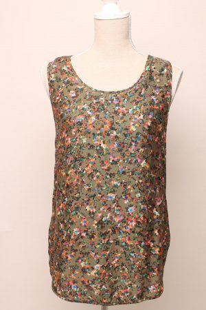 BOSS ORANGE Top Shirt Seide 38 m grün blau khaki oliv  rosa geblümt
