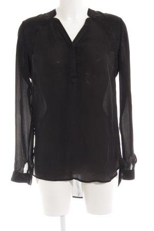 Boss Orange Transparenz-Bluse schwarz klassischer Stil