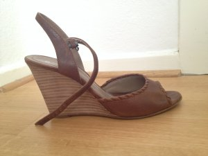 Boss Orange Wedges Echtleder cognac braun