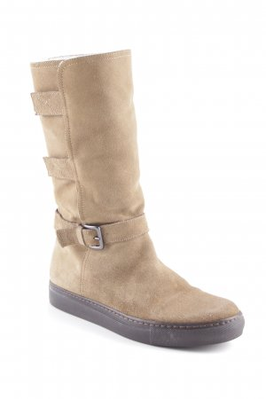 Boss Orange Winterstiefel beige Kuschel-Optik