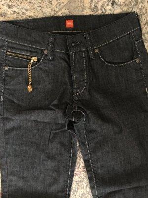 Boss Röhren Jeans S schwarz anthrazit