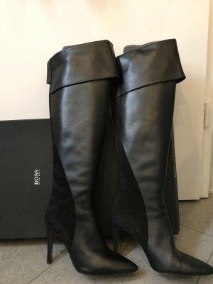Hugo Boss Kniehoge laarzen zwart