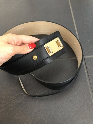 Boss Orange Waist Belt black leather