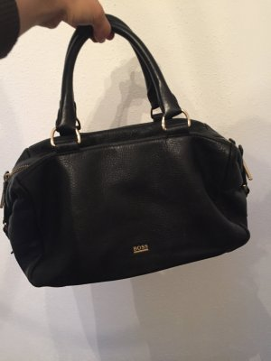 Hugo Boss Carry Bag black leather