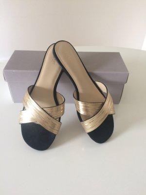 Sandals black-cream leather