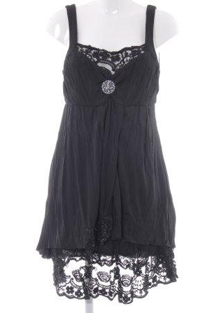 Bottega A-Linien Kleid schwarz klassischer Stil