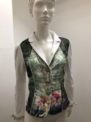 Bottega Blazer mit floralem Print, ungewöhnlichen Knöpfen und Details