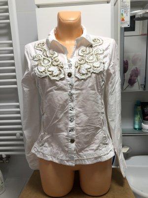 Bottega Cuello de blusa blanco