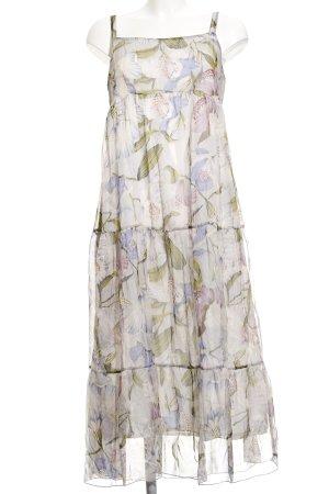 Bottega Chiffon jurk bloemen patroon casual uitstraling