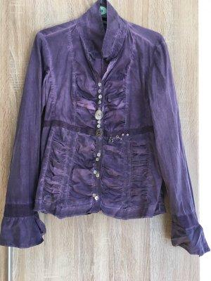 Bottega elegante Langarm-Bluse mit schönen Knöpfen