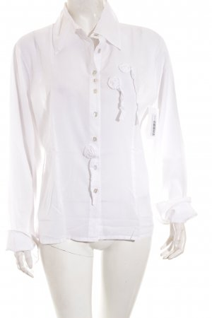 Bottega Hemd-Bluse weiß Dekoelemente