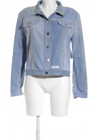 Bottega Jeansjacke blassblau Street-Fashion-Look