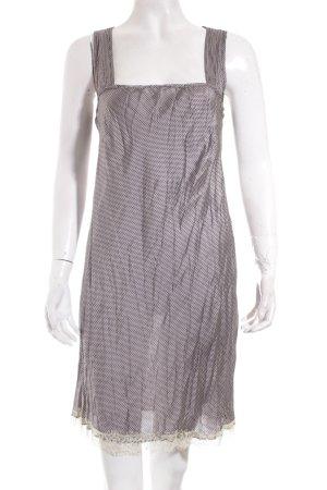 Bottega Kleid schwarz-creme Lingerie-Look