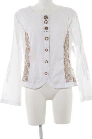 Bottega Kurzjacke weiß-roségoldfarben Street-Fashion-Look