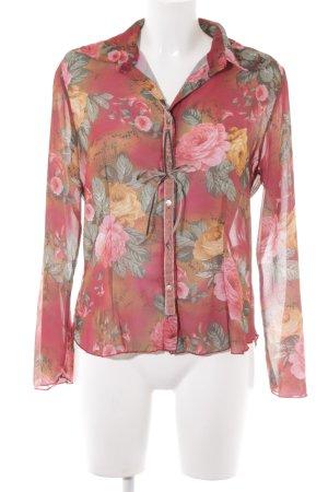 Bottega Langarm-Bluse Blumenmuster extravaganter Stil
