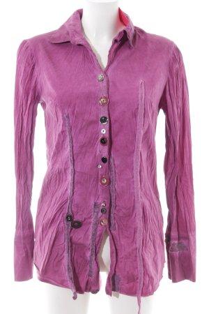 Bottega Langarm-Bluse pink extravaganter Stil