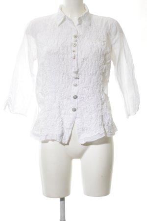 Bottega Langarm-Bluse weiß Elegant