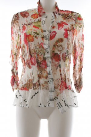 Bottega Langarm-Bluse florales Muster Casual-Look