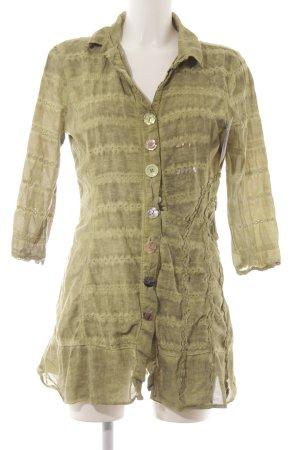 Bottega Langarm-Bluse grasgrün Farbverlauf Boho-Look