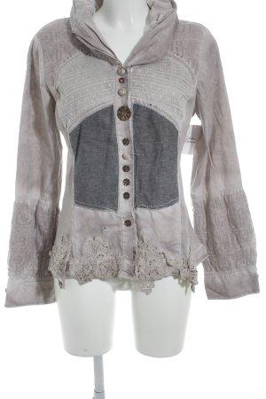 Bottega Langarm-Bluse roségoldfarben Street-Fashion-Look