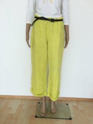 Bottega 7/8 Length Trousers neon yellow linen