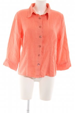 Bottega Linen Blouse light orange casual look