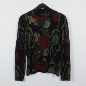 Bottega Pullover Gr. S schwarz geblümt (18/12/022)