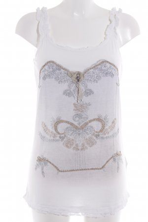 Bottega Frill Top placed print romantic style