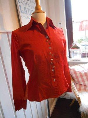 Bottega sportlich elegante Bluse Gr. S / 36 / 38 Kupfer /Orange / Rost