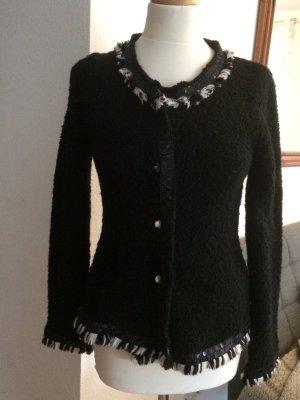 Bottega Strick Jacke schwarz Größe S