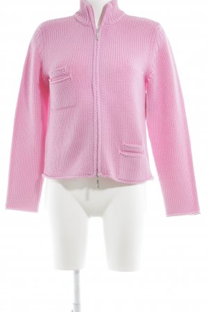 Bottega Strickjacke rosa Kuschel-Optik