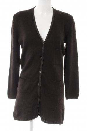 Bottega Strickjacke schwarzbraun Casual-Look