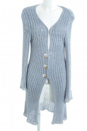 Bottega Strickjacke weiß-stahlblau meliert Casual-Look
