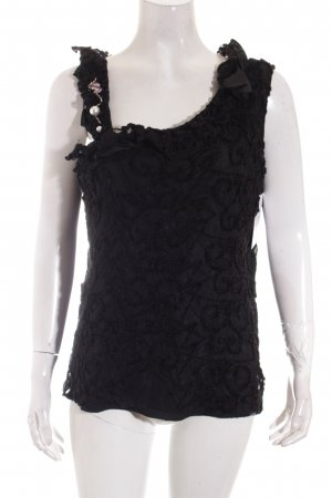 Bottega Top schwarz extravaganter Stil