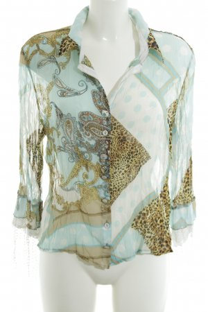 Bottega Transparent Blouse abstract pattern casual look