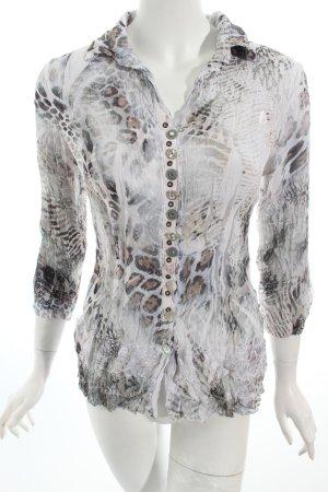 Bottega Transparenz-Bluse Animalmuster extravaganter Stil