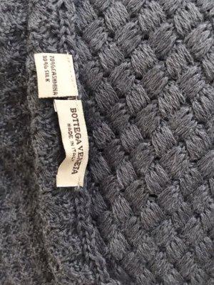 Bottega Veneta Écharpe en tricot gris-gris foncé