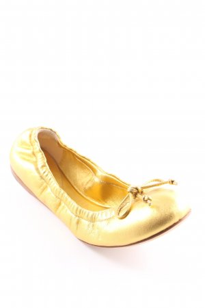 Bottega Veneta faltbare Ballerinas goldfarben Casual-Look