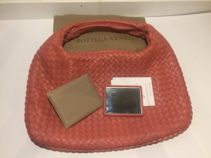 Bottega Veneta Sac hobo abricot-orange clair cuir