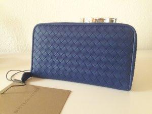 Bottega Veneta Portefeuille bleu cuir